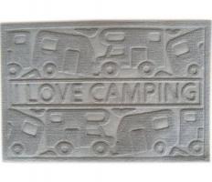 Постелка пред врата с мотив на кемпер и каравана
